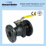 Flanged End Wcb Material ANSI Manual Operated Ss Ball Valve