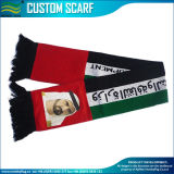 Jacquard Pattern Knit Acrylic Custom Football Scarves (B-NF19F10023)