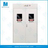 Metal Laboratory 3 Bottles Gas Cylinder Storage Cabinet