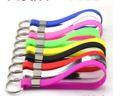 Popular and Debossed Logo Silicone Keychain