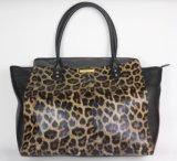 Guangzhou Supplier Leopard Pattern Leather Woman Handbag (206)
