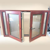Customer Made Wood Aluminium Casement Windows for Caribbean Customer