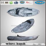 Unique Patent Wheel Design Sit on Top Single Recreational Kayak