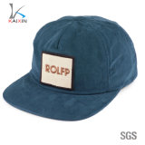 Custom Embroidery Patch 5 Panel Corduroy Snapback Hat