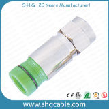 F Compression Connector for RF Coaxial Cable Rg59 RG6 Rg11 (F037B)