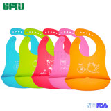 FDA Approved Material Packagable Baby Products Silicone Bib with Catcher