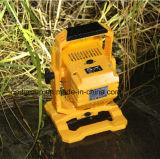 Dimmable LED Flood Light with USB Output and Detachable Battery