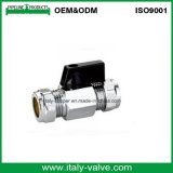 Polishing Chromed Brass Compression Mini Ball Valve (IC-1054)