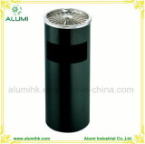 Stainless Steel Black Ashtray Bin for Hotel Indoor