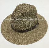 Paper Hat Sunhat with PU Leather Crown Band (Sh028)