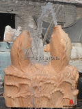 Marble Stone Fish Sculpture Water Garden Fountain for Decoration