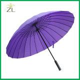 "24""*16k Pure Color Auto Opening Straight Windproof Umbrella"