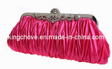 2014 Blue Satin with Metal Frame Fashion Evening Bag / Fashion Bag (KCE03 pink)