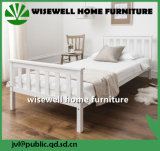 Wooden Single Bed in White Color