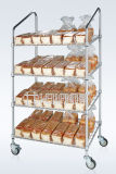 Slanted Metal Supermarket Bread Display Storage Shelving Trolley with NSF Approval