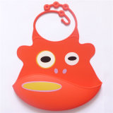 Baby Wear Flexible Waterproof Silicone Baby Bibs with Catcher