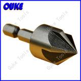 Hex Shank 5 Flutes HSS Countersink Drill Bit for Metal