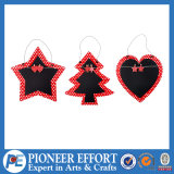Wooden Star Heart Tree Shaped Hanging Blackboard for Christmas Tree or Home Decor