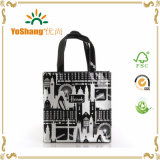 Vinyl PVC Shopping Tote Bag Shiny Vinyl Black PVC Zipper Tote Bags