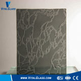 3-6mm Clear Grey Map Patterned Glass with Ce&ISO9001