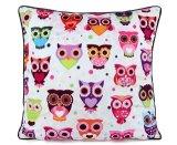 Owl Design Digital Printed Cushion Cover