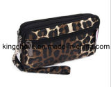 Satin Cosmetic Bag with Animal Printing (KCC121)