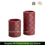 Flameless Wax Candle with Carved Design CE, RoHS Ceftificated