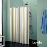 Shower Curtain Bathroom Waterproof Curtain (JG-245)