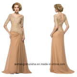Women Chiffon Stain Back Zipper Evening Dress Prom Dress