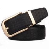 Men′s High-Grade Belts 100% Leather Pin Buckle Jeans Brand Belt