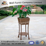 Well Furnir Durable Long Lige Wicker Patio Furniture Planter Stand Home Decor