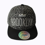 Cotton Snapback Cap with White Printing and Embroidery Logo (GKA15-F00039)