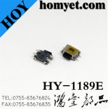 4.7*3.5*1.6mm 4pin SMD Tact Switch with Side Square Button (HY-1189E)