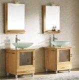 Yellow Solid Wood Bathroom Vanity
