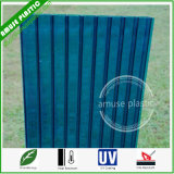 Blue Bendable UV-Coated Roof Panel Polycarbonate PC Multiwall Hollow Sheet