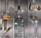 USA Colored Material Glass Water Pipe with Recycler Oil Rigs
