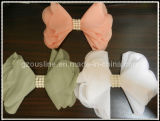 Rainbow Handmade Chiffon Pearl Bow, Hair Decorative Bow (BBA-0039)