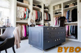 Blue and Gray Walk in Closet with Mirrored Closet Doors (BY-W-23)