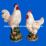 Polyresin Stoneware Look Rooster