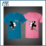 Costomized Logo Couple Cotton Lover′s T-Shirt