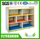 Children Furniture Wooden Kids Toy Cabinet with Wheels (SF-116C)