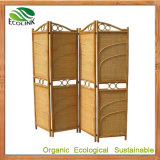 Customize Leisure Indoor Folding Screen with Natural Rattan