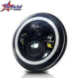 7 Inch Angle Eyes Halo High Low Beam LED Jeep Headlights