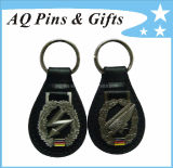 Custom PU Leather Keychains with 3D Logo