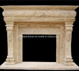 Stone Carving Fireplace Mantel (XF266)