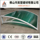 China Factory Direct Green Polycarbonate Hollow Sheet Awning for Doors and Windows Easy to Install