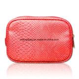 Snake Pattern PU Women′s Beauty Cosmetic Bags