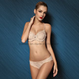 Factory Top Selling Lace Ladies Push-up Bra and Brief
