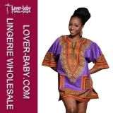 Purple Short Lady Dashiki Dress (L28068-9)