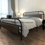 Morden Metal Bedroom Furniture with Upholstery Decoration (OL17195)